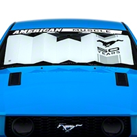 Sunshade � Running Pony 50 Years Logo (79-14 All) - AM Accessories ACC-700-50 Years