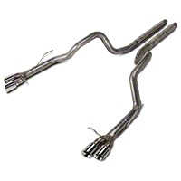 Stainless Works 3 in Retro Chambered Catback Exhaust (13-14 GT500) - Stainless Works M13GT