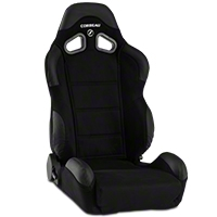 Corbeau CR1 Racing Seat - Black Microsuede (79-14 All) - Corbeau S20901