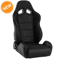 Corbeau CR1 Racing Seat - Black Leather (79-14 All) - Corbeau L20901