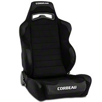 Corbeau LG1 Racing Seat - Black Microsuede (79-14 All) - Corbeau S25501