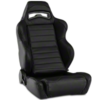 Corbeau LG1 Racing Seat - Black Leather (79-14 All) - Corbeau L25501