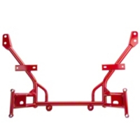 BMR Tubular K-Member - Standard Motor Mounts - Red (05-10 All) - BMR KM010R