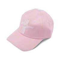 Tri-bar Running Pony Hat - Pink - AM Accessories 102151