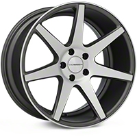 Vossen CV7 Machined Matte Graphite Wheel - 19x10 (05-14 All) - Vossen CV7-9N50