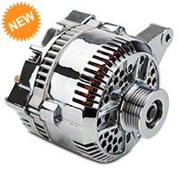 Powermaster Alternator - 200 Amp Chrome (96-98 GT) - Powermaster 37764