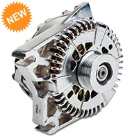 Powermaster Alternator - 200 Amp Chrome (96-01 Cobra; 03-04 Mach 1; 01 Bullitt) - Powermaster 37781