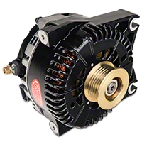 Powermaster Alternator - 200 Amp Black (96-01 Cobra; 03-04 Mach 1; 01 Bullitt) - Powermaster 57781
