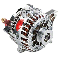 Powermaster Alternator - 225 Amp Chrome (99-04 GT) - Powermaster 37795