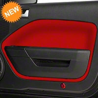 Door Insert Covers - Red (05-09 All) - AM Interior Mustang05InsertsRed