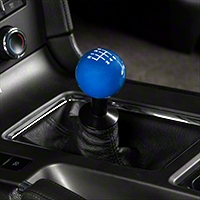 Modern Billet Retro Style 6-Speed Shift Knob - Blue (11-14 GT, V6; 11-12 GT500) - Modern Billet 102257