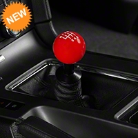 Modern Billet Retro Style 6-Speed Shift Knob - Red (11-14 GT, V6; 11-12 GT500) - Modern Billet 102258