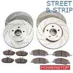 Power Stop Street Warrior Brake Rotor & Ceramic Pad Kit - Front & Rear (05-10 GT) - Power Stop K1381-26