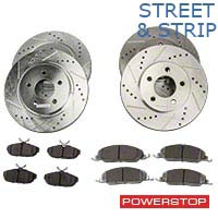 Power Stop Street Warrior Brake Rotor & Ceramic Pad Kit - Front & Rear (05-10 V6) - Power Stop K1383-26