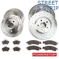 Power Stop Street Warrior Brake Rotor & Ceramic Pad Kit - Front & Rear (99-04 GT, V6) - Power Stop K1302-26