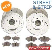 Power Stop Street Warrior Brake Rotor & Ceramic Pad Kit - Front & Rear (94-98 GT, V6) - Power Stop K1300-26