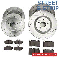 Power Stop Street Warrior Brake Rotor & Ceramic Pad Kit - Front & Rear (11-14 GT Brembo, 12-13 BOSS, 07-12 GT500) - Power Stop K4148-26