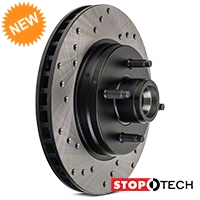 StopTech Sport Cross-Drilled Rotors - Front Pair (87-93 5.0L) - StopTech 128.61026L||128.61026R