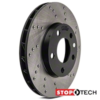 StopTech Sport Cross-Drilled Rotors - Front Pair (94-04 GT, V6) - StopTech 128.61041L  128.61041R