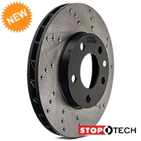 StopTech Sport Cross-Drilled Rotors - Front Pair (94-04 GT, V6) - StopTech 102305