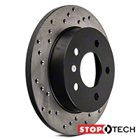 StopTech Sport Cross-Drilled Rotors - Rear Pair (94-04 GT, V6) - StopTech 128.61042L  128.61042R