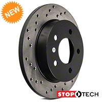 StopTech Sport Cross-Drilled Rotors - Rear Pair (94-04 GT, V6) - StopTech 102306