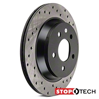 StopTech Sport Cross-Drilled Rotors - Rear Pair (94-04 Bullitt, Mach 1, Cobra) - StopTech 128.61046L||128.61046R