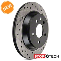 StopTech Sport Cross-Drilled Rotors - Rear Pair (94-04 Bullitt, Mach 1, Cobra) - StopTech 102307
