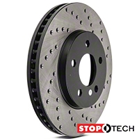 StopTech Sport Cross-Drilled Rotors - Front Pair (05-10 V6) - StopTech 128.61085L||128.61085R