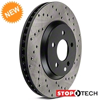 StopTech Sport Cross-Drilled Rotors - Front Pair (05-10 GT; 11-14 V6) - StopTech 128.61086L||128.61086R