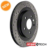 StopTech Sport Cross-Drilled Rotors - Rear Pair (05-14 All; Excludes 13-14 GT500) - StopTech 128.61087L||128.61087R
