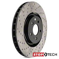 StopTech Sport Cross-Drilled Rotors - Front Pair (07-12 GT500; 12-13 Boss 302; 11-14 GT Brembo) - StopTech 128.61089L||128.61089R