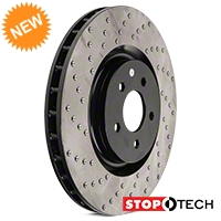 StopTech Sport Cross-Drilled Rotors - Front Pair (07-12 GT500; 12-13 Boss 302; 11-14 GT Brembo) - StopTech 102311