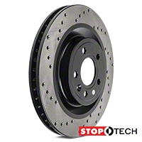 StopTech Sport Cross-Drilled Rotors - Front Pair (11-14 GT) - StopTech 128.61098L||128.61098R
