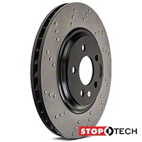 StopTech Sport Cross-Drilled Rotors - Front Pair (94-04 Bullitt, Mach 1, Cobra) - StopTech 128.61044L||128.61044R