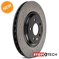 StopTech Sport Cross-Drilled Rotors - Front Pair (94-04 Bullitt, Mach 1, Cobra) - StopTech 102313