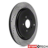 StopTech Sport Cross-Drilled Rotors - Rear Pair (13-14 GT500) - StopTech 128.61105L||128.61105R