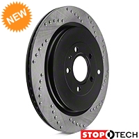 StopTech Sport Cross-Drilled Rotors - Rear Pair (13-14 GT500) - StopTech 102314