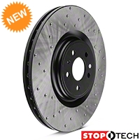 StopTech Sport Cross-Drilled Rotors - Front Pair (13-14 GT500) - StopTech 102315