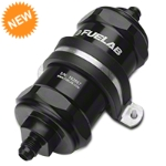 Fuelab In-Line Fuel Filter - 40 micron stainless steel / 6AN (79-14 All) - Fuelab 81811-1