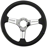 Black Leather Steering Wheel (79-04 All) - AM Interior ST3012B