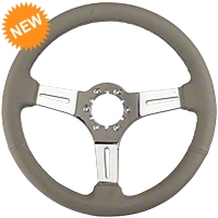 Gray Leather Steering Wheel (79-04 All) - AM Interior ST3012G