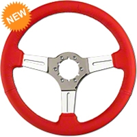 Red Leather Steering Wheel (79-04 All) - AM Interior ST3012R