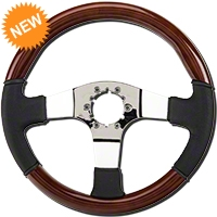 Wood & Leather Steering Wheel (79-04 All) - AM Interior ST3019