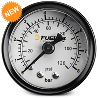 Fuelab Fuel Pressure Gauge - 1.5 in. Dual Bar/PSI Scale (86-14 All) - Fuelab 71511||71511