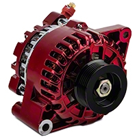 PA Performance Alternator - 130 Amp - Red (01-04 V6) - PA Performance 2503CR