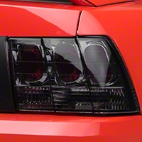 Smoked Euro Tail Lights (99-04 GT, V6, Mach 1) - AM Lights LT-MST99G-APC