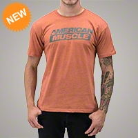 AmericanMuscle Distressed T-Shirt - Men - AM Accessories 102636