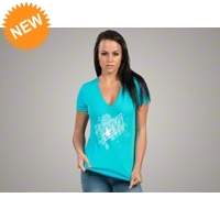 AmericanMuscle Floral T-Shirt - Women - AM Accessories 102642