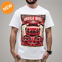 American Muscle 5 Mustang T-Shirt - AM Accessories 102648